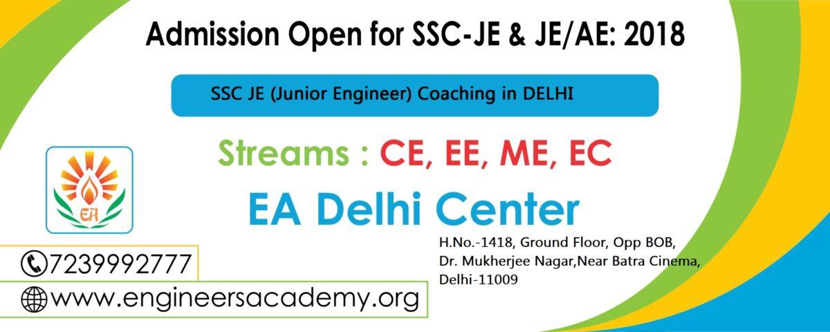 Best SSC JE (Junior Engineer) Coaching in Delhi – Engineers Academy