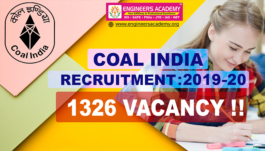 Coal India Recruitment 2019-20 : 1326 Vacancies for Management Trainee
