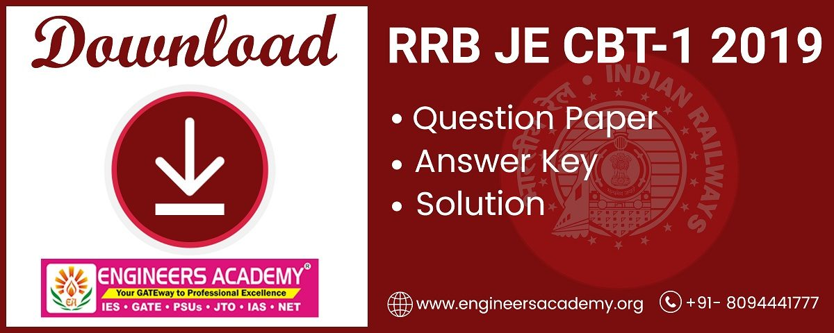 RRB JE CBT-1 Question Paper and Answer Key